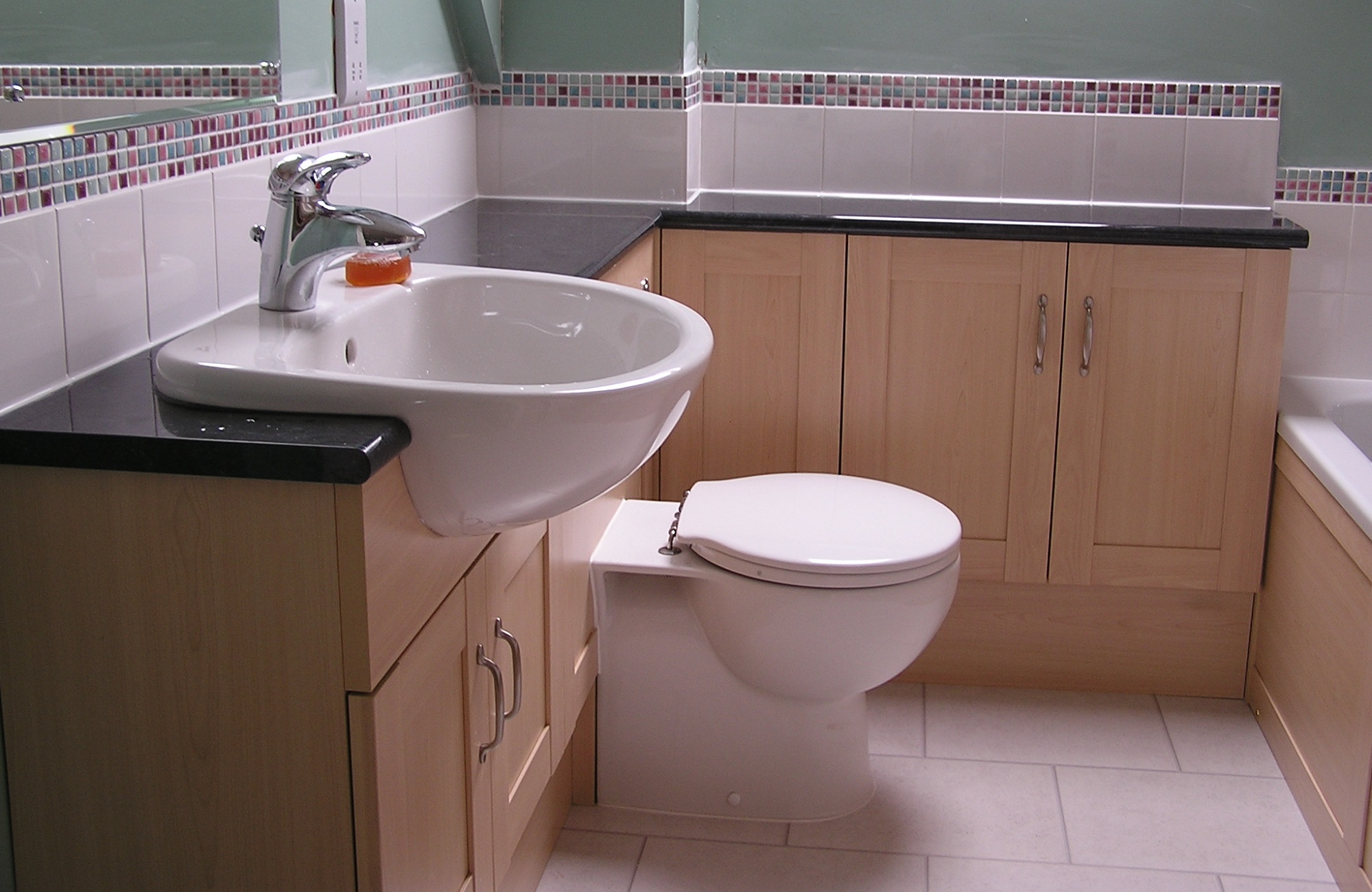 A fitted bathroom designed, built and fitted by us.