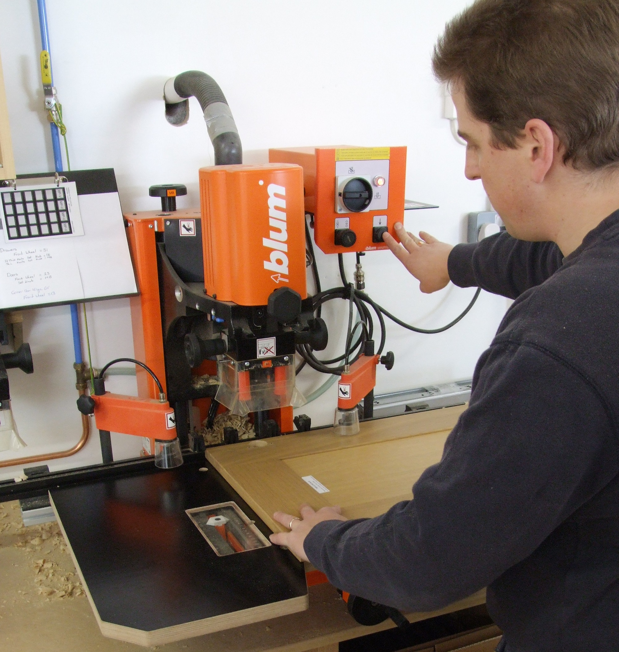 Processing doors using the latest machinery