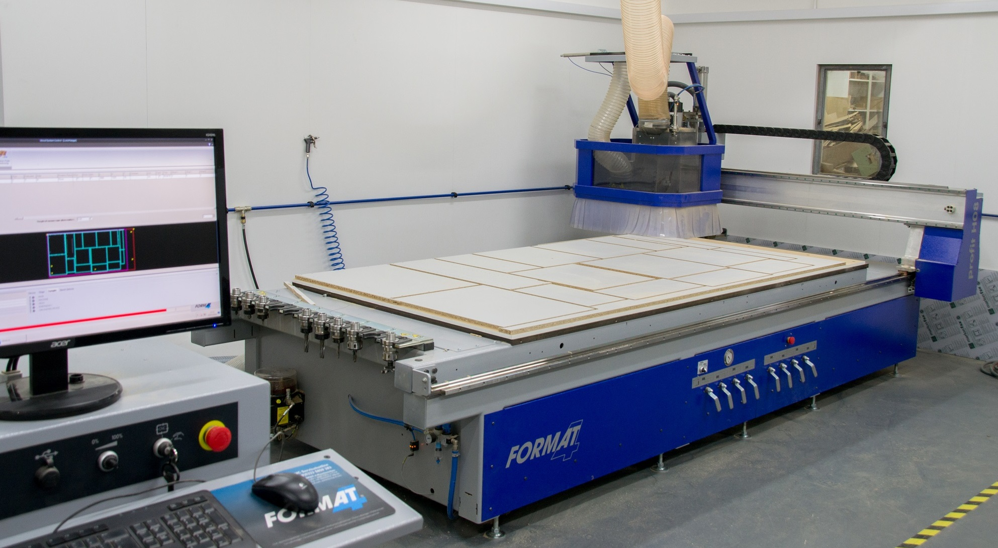 Our CNC machine based at the Partridge Kitchens workshop